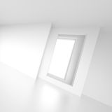 White Empty Room Background. 3d Illustration of Abstract Interior Design. White Empty Room Background royalty free illustration