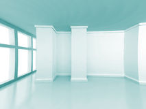 White Empty Room Classic Design Interior Background Royalty Free Stock Images