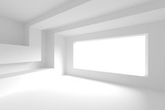 White Empty Room. 3d Abstract Background stock illustration