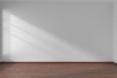 White empty room with dark parquet floor Stock Images