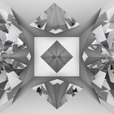 White empty room with diamond Royalty Free Stock Images