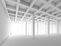 White empty room interior, 3 d illustration Royalty Free Stock Photography