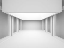 White Empty Room With Light. Architecture Background. 3d Render Illustration Royalty Free Stock Image