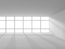 White empty room modern minimalistic interior background. 3d render illustration Royalty Free Stock Images