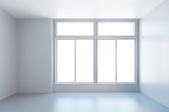 White empty room with window Royalty Free Stock Photography