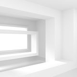 White Empty Room with Window. Modern Interior Design. 3d Rendering stock illustration