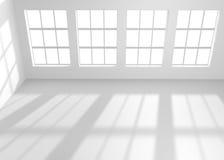 White empty room with windows Stock Image