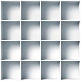 White empty shelves. 3d illustration Royalty Free Stock Images