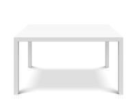 White empty square table Stock Photos