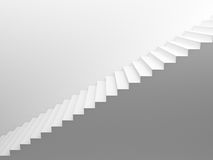 White empty stairs Royalty Free Stock Photography