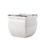 White enamel flower pot Stock Photos