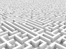 White endless maze. Royalty Free Stock Image