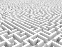 White endless maze. Royalty Free Stock Image