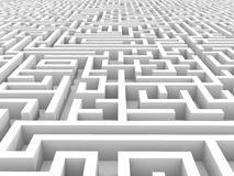 White endless maze. Royalty Free Stock Photos