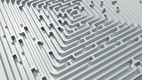 White endless maze. 3D render Stock Image