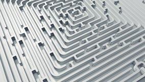 White endless maze. 3D render Stock Image
