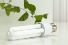 White energy saving bulb Royalty Free Stock Photography