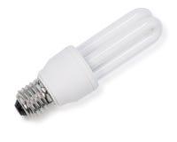 White energy saving bulb, Illuminated light bulb,Realistic photo image on white background. White energy saving bulb, Illuminated light bulb,Realistic photo royalty free stock photos