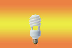 White energy saving lamp Stock Photo