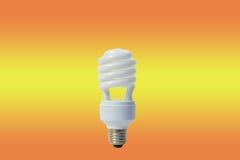 White energy saving lamp. Bulb lightbulb innovation Stock Photo