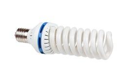 White energy saving lamp. isolated on white background. Stock Image