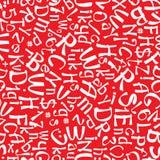 White english alphabet seamless pattern Stock Photos