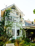 A white English cottage wooden house in Chiang rai Stock Images