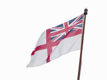 White ensign flag isolated on white Stock Photography