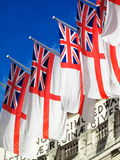White Ensigns at Admiralty Arch Royalty Free Stock Photography