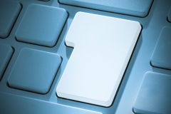 White enter key on keyboard Royalty Free Stock Images