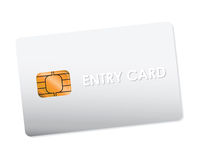 White entry card Royalty Free Stock Photos