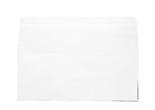 White envelop and blank paper Stock Photos