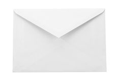 White envelope. A white envelope isolated on a background royalty free stock photography