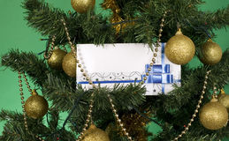 White envelope for christmas Royalty Free Stock Photo