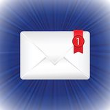 White envelope stock illustration