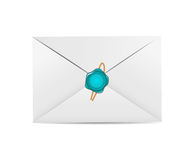 White Envelope Icon with Wax Seal Vector Royalty Free Stock Photography