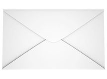 White envelope. Isolated render on a white background Royalty Free Stock Image