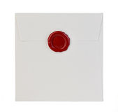 White envelope isolated on white Royalty Free Stock Photo