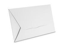 White envelope isolated on white background Royalty Free Stock Photos