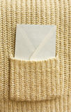 White envelope (letter) in the pocket Stock Photography