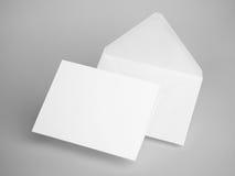 White envelope letters. 3d rendering. White blank envelope letters on gray background vector illustration