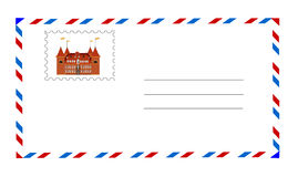 White envelope with postage stamp vector Stock Photo
