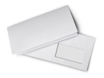 Free White Envelope With Folded Blank Sheet For Correspondence Stock Images - 85138154