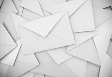 White envelopes Royalty Free Stock Images