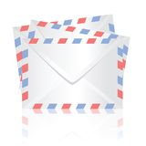 White envelopes Stock Image