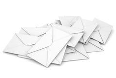 White envelopes. Isolated render on a white background Stock Photo