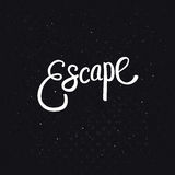 White Escape Text on Dotted Black Background Stock Photos