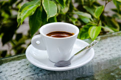 White espresso cup Stock Photo