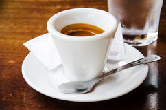 White espresso cup Stock Images
