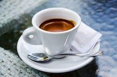 White espresso cup Stock Photos